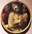 Bartolomeo di david, testate di bara dalla compagnia di s. onofrio, 1532 (siena, museo civico), crsito morto tra due angeli.jpg