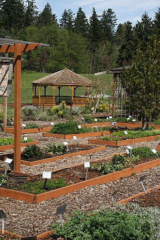 Naturopathy - The herb garden at Bastyr University, another naturopathic program whose graduates can become licensed naturopaths in some North American jurisdictions.