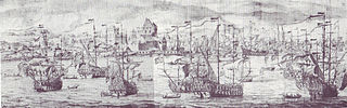 The Arrival of the English Squadron off the Coast of Bergen in Norway, 2-12 August 1665
