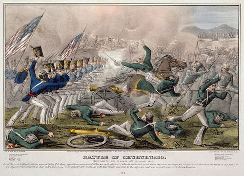 mexican american war wikiwand battle of churubusco by j cameron published by nathaniel currier hand tinted lithograph
