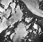 Bear Lake Glacier, mountain glaciers, firn line, bergschrund, and hanging glaciers, August 27, 1963 (GLACIERS 6385).jpg