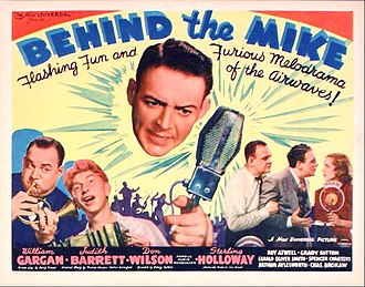 Behind the Mike (film) - Theatrical poster for the film