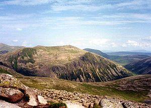 Beinn Mheadhoin - Beinn Mheadhoin from the summit of Derry Cairngorm