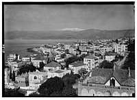 Beirut. Beirut and St. George's Bay. Showing snow-clad Sunnin LOC matpc.02831.jpg
