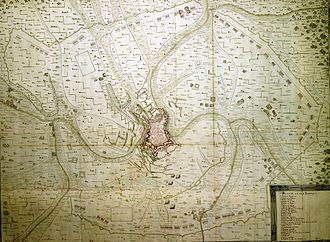 Siege of Luxembourg (1684) - Military plan for the Siege of Luxembourg.