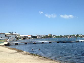 Lake Macquarie (New South Wales) - Lake Macquarie coastline at Belmont