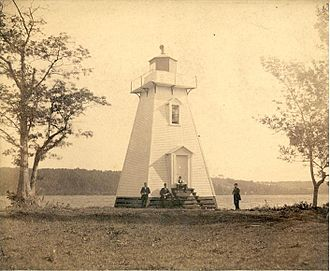 Belyea's Point Light - An early photograph of Belyea's Point Lighthouse