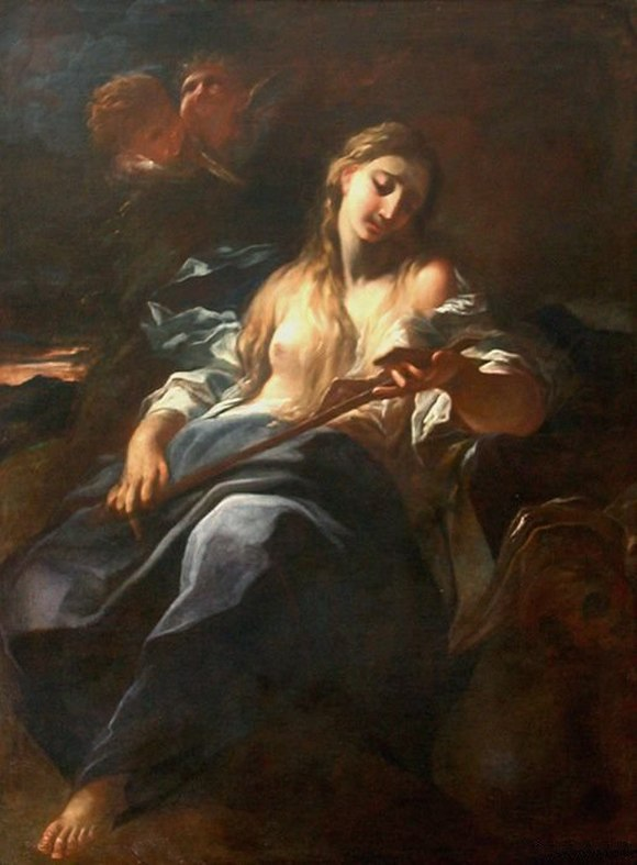 Mary Magdalene in Meditation before a Crucifix