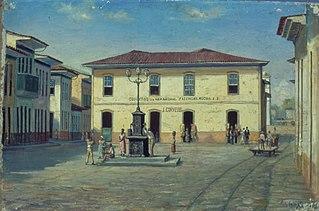 Páteo Interno da cadeia de Santos, 1854