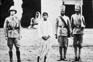 Emperor vs Aurobindo Ghosh and others - Khudiram Bose, who threw the bomb at Muzaffarpur, held under guard some time after his arrest.