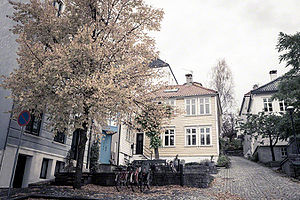 Nordnes - Nordnes has several dense clusters of wooden houses and narrow alleys