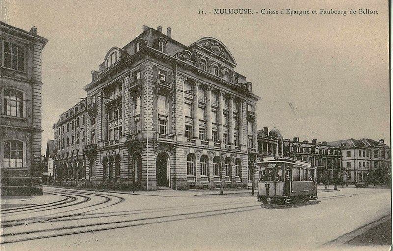 file bergeret 11 mulhouse caisse d 39 pargne et faubourg de belfort jpg. Black Bedroom Furniture Sets. Home Design Ideas