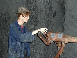 Fell Exhibition Slate Mine - Image: Bergwerk fell arbeit