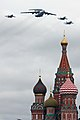 Beriev A-50 & Sukhoi Su-27&Su-30 over Saint Basil's Cathedral (4712471692).jpg