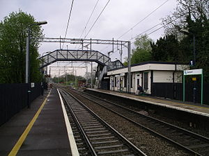 Berkswell railway station - Image: Berkswell railway station from platform two 5y 08