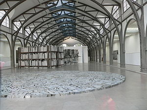 National Gallery (Berlin) - Berlin Circle by Richard Long at the Museum für Gegenwart, Hamburger Bahnhof