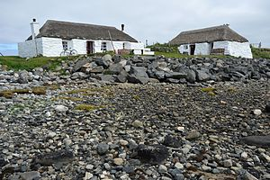 Berneray (North Uist) - The youth hostel on Berneray