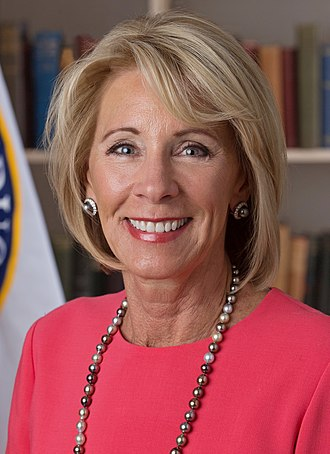 United States Secretary of Education - Image: Betsy De Vos official portrait (cropped)