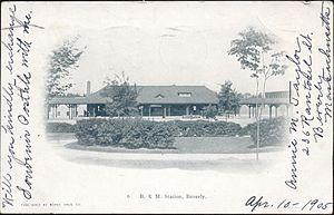 Beverly Depot (MBTA station) - Beverly Depot on a 1905 postcard