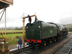 Bishops Lydeard 71000 Duke of Gloucester taking water.jpg
