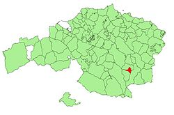 Location of Izurtza in Biscay.