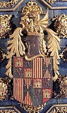 Blasón de Fernando II de Aragón en la Aljafería