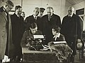 Blind soldier receiving typewriter training on October 27, 1917- Commissions - To Foreign Nations - Legislative - American Senators visit St. Dunstan's - NARA - 26432590 (cropped).jpg