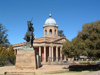 Parliament building in Bloemfontein, South Afr...
