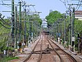 Blue Line tracks northeast of Suffolk Downs station, May 2012.JPG