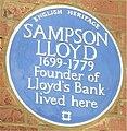 Blue plaque Sampson Lloyd.jpg