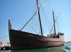 Caravel - A replica of the caravel Boa Esperança in the city of Lagos, Portugal