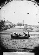 Boat on the shore, Cemaes (Mon) NLW3363623.jpg