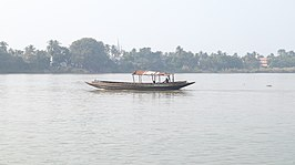 Boat over River Ganges in Nabadwip.jpg