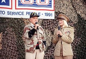 Entertainers Bob Hope and Ann Jillian perform ...