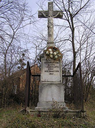 Bocfölde - 19th-century stone cross in Bocfölde