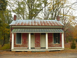 Marengo County, Alabama - Dayton Town Hall (built 1858) in Dayton. On the Alabama Register of Landmarks and Heritage.