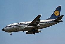 Lufthansa 737-100 en vol