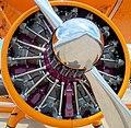 Boeing Stearman (ZS-OVZ), engine, Rand Airport 2004.jpg