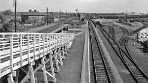 Bolton Percy railway station - The view north of the station in 1961