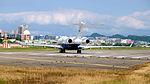 Bombardier BD-700-1A10 Global 5000 N717MK Departing from Taipei Songshan Airport 20151003e.jpg