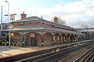 Rainhill railway station - Image: Booking office, Rainhill railway station (geograph 3819260)