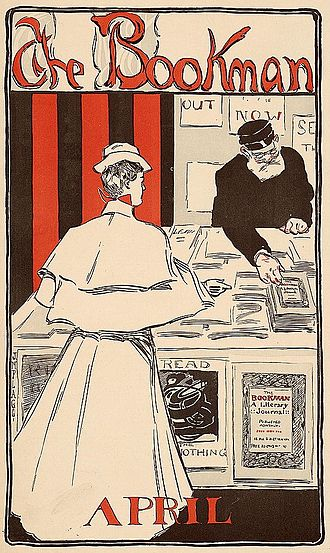 The Bookman (New York City) - James Montgomery Flagg poster for The Bookman (April 1896)