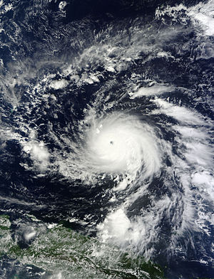 Typhoon Bopha - Bopha on December 1, a day before its initial peak intensity