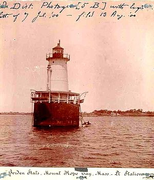 Borden Flats Light - Image: Borden Flats Light MA 1900