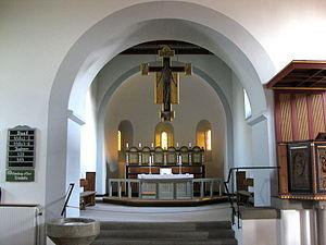Østermarie Church - Image: Bornholm Østermarie Kirke indre