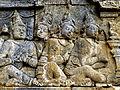 Borobudur - Lalitavistara - 011 E, The Gods venerate the Bodhisattva (detail 1) (11247881235).jpg