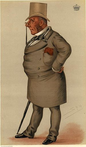 Fred Archer (jockey) - Viscount Falmouth, Archer's patron, in a caricature by Leslie Ward.