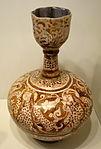 Bottle with design of five mystics, Iran, Seljuk period, late 12th or early 13th century, earthenware with overglaze luster painting - Cincinnati Art Museum - DSC04069.JPG