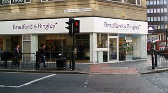 Bradford & Bingley - A branch of the bank in Newcastle upon Tyne in October 2008