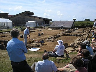 Brading Roman Villa - Excavation of north wing in August 2008